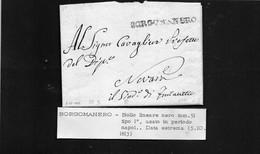 CG8 - Lettera Della Municipalità Di Furlanetto Per Novara 5/10/1813 - Annullo Di Borgomanero - ...-1850 Préphilatélie