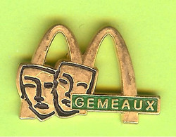 Pin's Mac Do McDonald's Signe Du Zodiaque Gémeaux - 3O30 - McDonald's