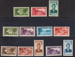 Vietnam Empire 1951 Yvert 1 / 13 * Sauf Le N° 12 Neufs Avec Charniere. Souverain Et Sites. - Vietnam