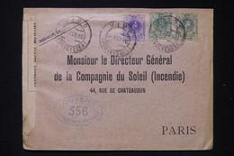ESPAGNE - Enveloppe De Vigo Pour Paris En 1916 Avec Contrôle Postal -  L 87684 - Cartas