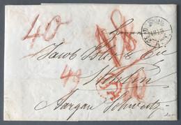 Allemagne, Lettre De Dresden 1848 Pour La Suisse - (B792) - Zonder Classificatie