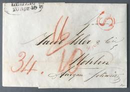 Allemagne Lettre De Leipzig 20.4.1846 Pour Wolhen - (B793) - [1] Voorlopers