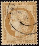 1870 10c Y&T 36, SG 135/6, Mi.33 Used - 1863-1870 Napoléon III. Laure