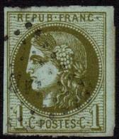Bordeaux 1c Y&T 39B, SG 145/48, Mi.36 Used - 1870 Bordeaux Printing