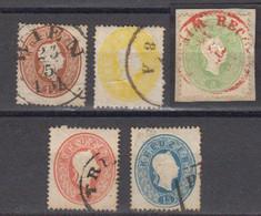 Autriche 1861 Yvert 17 / 21 Obliteres - Usados