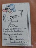 JOLI MENU GRINCHEUX LODELINSART 04/12/1946  TREMBLOY LUCIEN - Menus