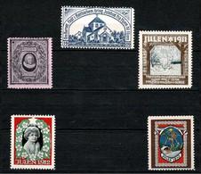 Denmark; Christmas Seals. Sydslesvig; 1909-1913; 5 Unused.  MNH(**). - Andere