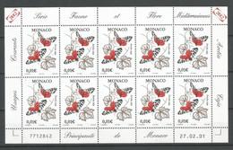 Feuillet 2001 Monaco En Neuf ** N 2323 + 2327 Vendu Au Prix De La Poste - Non Classificati