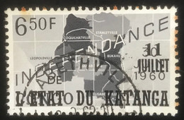 Etat Du Katanga -  T1/15 - (°)used - 1960 - Michel 47 - Zegel ' Onafhankelijkheid' - Katanga