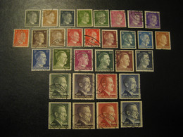 1941/1942 Mi 781/798 (784/5 A/b) + 799/802 A/B (not Valued As Used) + 826/7 Hitler GERMANY Third Reich Deutsches Reich - Usados