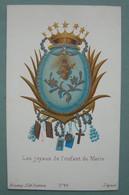 Fin XIXéme : IMAGE PIEUSE Chromo Bonamy Pl 45 LES JOYAUX DE L'ENFANT DE MARIE   HOLY CARD SANTINO - Devotion Images