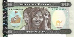 ERYTHREE 1997 10 Nakfa - P.03a  Neuf UNC - Eritrea