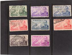 Espagne:  : Année  1939 PA Série De 6 Valeurs N°217  à 223 A Oblitérés - Oblitérés