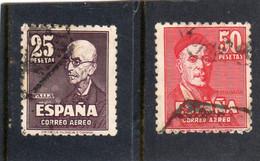 Espagne:  :année 1947  PA N°236  & 237oblitérés - Oblitérés