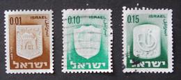 ARMOIRIES DES VILLES 1965/67 - YT 271 + 276 + 278 - Usados (sin Tab)