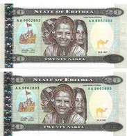 ERYTHREE 1997 20 Nakfa - P.04a  Neuf UNC - 2 - Eritrea