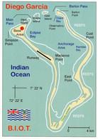1 Map Of Diego Garcia * Ein Atoll Im Chagos-Archipel  - British Indian Ocean Territory Im Indischen Ozean * - Carte Geografiche