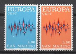 EUROPA CEPT 1972 NEUF ** 2TP SAN MARINO - 1972