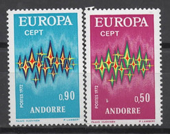 EUROPA CEPT 1972 NEUF ** 2TP ANDORRE - 1972