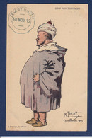 CPA MAROC Satirique Caricature Maroc Par TUGOT écrite Cachet - Autres