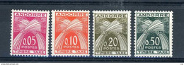 Andorre  -  Taxes  :  Yv  42-45  ** - Neufs