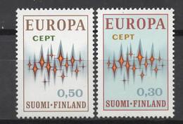 EUROPA CEPT 1972 NEUF ** 2TP FINLAND - 1972