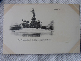 Eb1 PARIS 75 - CPA - LA STATUE - LE TRIOMPHE DE LA REPUBLIQUE PAR JULES DALOU - PIONNIERE NON ECRITE - Standbeelden