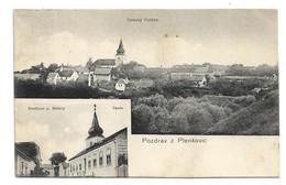Czech Republic  * Pozdrav Z Plenkovic  *  Celkovy Pohled  - Hostinec P. Brindy - Skola - Czech Republic