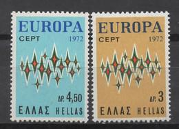 EUROPA CEPT 1972 NEUF ** 2TP HELLAS - 1972