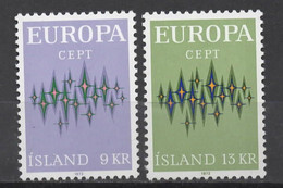 EUROPA CEPT 1972 NEUF ** 2TP ISLAND - 1972