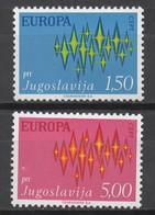 EUROPA CEPT 1972 NEUF ** 2TP JUGOSLAVIA - 1972
