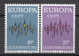 EUROPA CEPT 1972 NEUF ** 2TP LUXEMBOURG - 1972