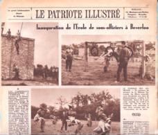 Armée Belge-Beverloo-Inauguration De L'Ecole De Sous-Officiers-School Voor Onder-Officieren-Le Patriote Illustré-8 /1946 - 1900 - 1949