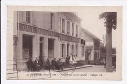 CP 10 NOGENT SUR SEINE Hotel Des Deux Gares - Nogent-sur-Seine