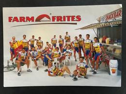 Team - TVM - Farm Frites - 1998 - Carte / Card - Cyclists - Cyclisme - Ciclismo -wielrennen - Cycling