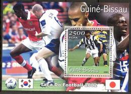 {GB57} Guinea - Bissau 2001 Football Soccer World Cup 2002 Korea - Japan (1) S/S MNH** - Guinea-Bissau