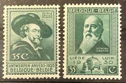 België Zegel Nrs 299 - 300 MNH*** - 1929-1941 Gran Montenez