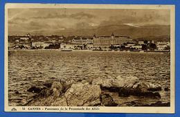 Cga245 Alpes Maritimes Cannes Panorama De La Promenade Des Alliés (voyagé 1948) - Cannes