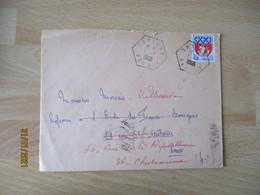 Antigny  Recette Auxiliaire Cachet Hexagonal - 1921-1960: Modern Period