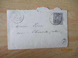 OL O L Origine Localr  Lettre Timbre Sage  Por Chantelle - 1877-1920: Semi-moderne Periode