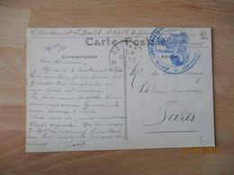 Coutances Hopital Complementaire Cachet Franchise Postale Militaire Guerre 14.18 - 1. Weltkrieg 1914-1918