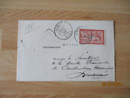 Denain Daguin Double Jumele Sur Recommande Timbre Merson C Seul Sur Lettre - 1877-1920: Semi-Moderne