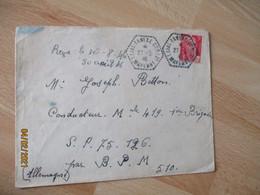 Laval Annexe Cp 21 Recette Auxiliaire Cachet Hexagonal - 1921-1960: Modern Period