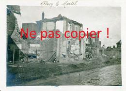 PHOTO FRANCAISE - LES RUINES DE FLAVY LE MARTEL PRES DE CUGNY - JUSSY AISNE - GUERRE 1914 1918 - 1914-18