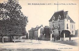 35 - ST AUBIN Du CORMIER : Bureau De Poste ( PTT ) Rue Des Douves - CPA Village ( 3.730 Habitants) Ille Et Vilaine - Sonstige Gemeinden