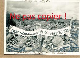 2 PHOTOS FRANCAISES - BANDEROLE ALLEMANDE ET VILLA EN RUINES A FLAVY LE MARTEL PRES DE CUGNY - JUSSY AISNE 1914 1918 - 1914-18