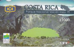 TARJETA DE COSTA RICA DEL PARQUE NACIONAL VOLCAN IRAZU - Costa Rica