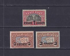ESTONIA 1930, Mi# 87-89, CV €350, Maps, Architecture, MNH - Estland