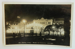 BUENOS AIRES-PALACIO DE GOBIERNO, ILLUMINADO Used And Stamped Vintage Postcard 1937 - Oblitérés