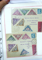 """Beau Lot De Lettres, Sur Le Thème De L'aviation Avec Vignettes """"Journée National  De La L'Aviation Vincennes"""" - 1921-1960: Periodo Moderno"""